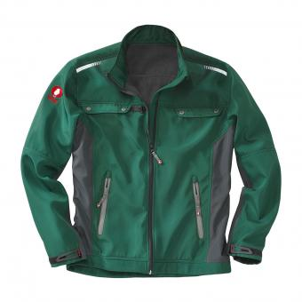 KRÄHE Softshell Jacket green black | S