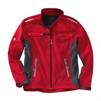 KRÄHE Softshell Jacket red black | 3XL