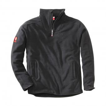 KRÄHE Polar Fleece Troyer black | XXL