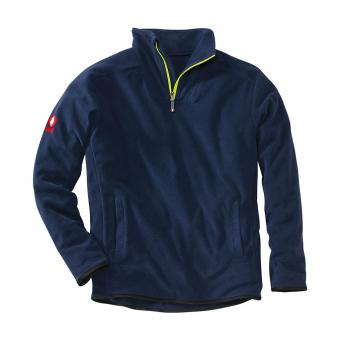 KRÄHE Polar Fleece Troyer marine | M