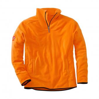 KRÄHE Polar Fleece Troyer orange | M