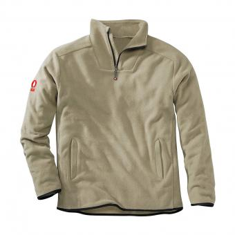 KRÄHE Polar Fleece Troyer beige | 3XL
