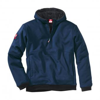 KRÄHE Extreme Teddy Fleece Troyer marine black | XL