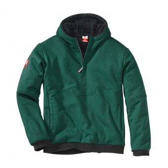 KRÄHE Extreme Teddy Fleece Troyer green black | XL