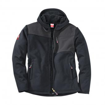 KRÄHE Advanced Fleece-Jacke schwarz grau | L