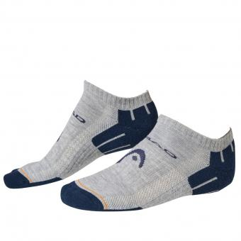 Head Sneaker Socken 2er Pack grau blau | 43/46