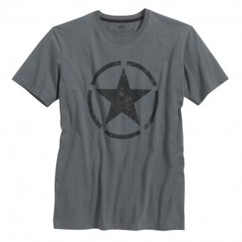 Alpha Industries Star T-Shirt dark grey | S