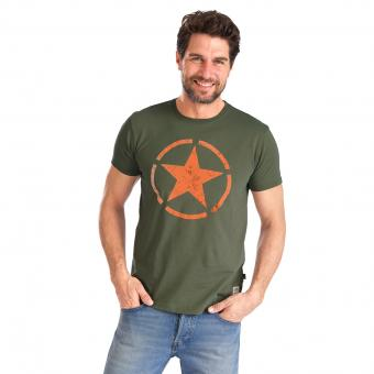 Alpha Industries Star T-Shirt dunkelgrün | S