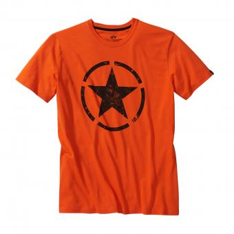 Alpha Industries Star T-Shirt orange | S