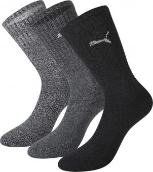 Puma Crew Socks, Pack of 3 grey | 43/46