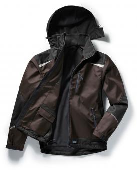 Pionier Tools Softshell Jacket brown black | 3XL