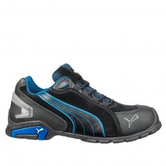 Puma Safety Rio Black Safety Shoes S3 SRC EN ISO 20345 black blue | 39