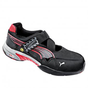 Puma Safety Spring Sandale S1 SRC ESD HRO EN ISO 20345 schwarz rot | 37