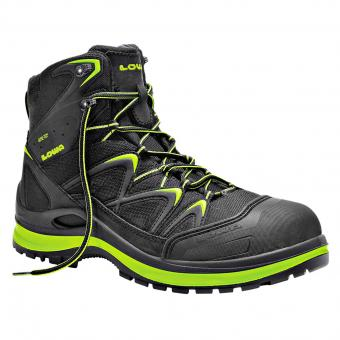 Lowa Work Innox GTX Safety Boots S3 SRC EN ISO 20345 black green | 046
