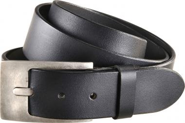 Leather belt black | 90