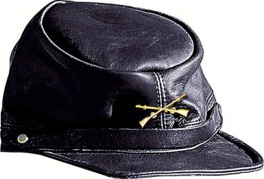 Stars & Stripes Leather cap North black
