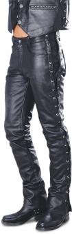 Leather trousers Tyler black | 28