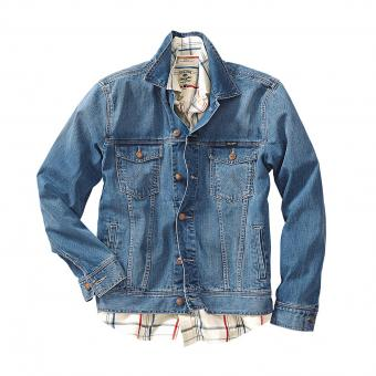 Wrangler Jeans Jacket blue stonewashed | XL