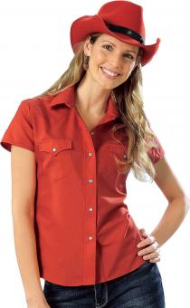 Blouse short sleeves Montrose red | S