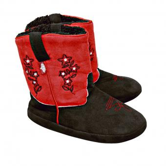 Stars & Stripes Fluffy Cowboy Boots red black | 42/43
