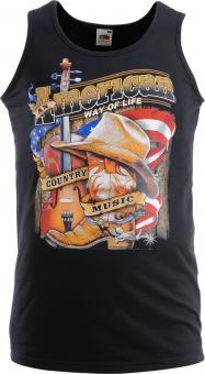 Tanktop Country Music zwart | XXL