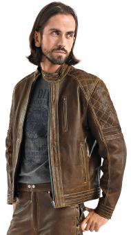 Leather Jacket Ian brown | L