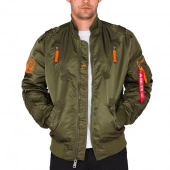 Alpha Industries Fliegerjacke Falcon II dunkelgrün | 3XL