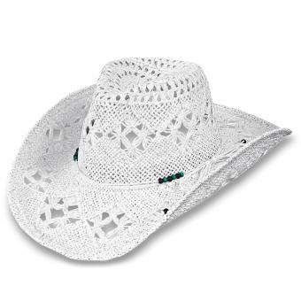 Scippis Straw Hat Diamond white | S