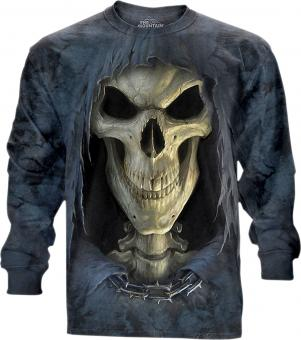 The Mountain Longshirt Find 9 Wolves anthracite | 3XL