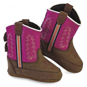 Old West Babyboots Little Pony roze bruin | 4