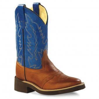 Old West Cowboy Boots Little Rider brown blue | 30