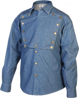 Shirt Soldier-Style blue denim | 4XL