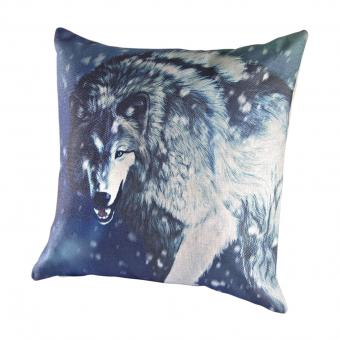 Wild Wolf Winter Pillow