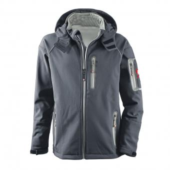 KRÄHE St. Moritz Softshell Jacket grey anthracite | XXL
