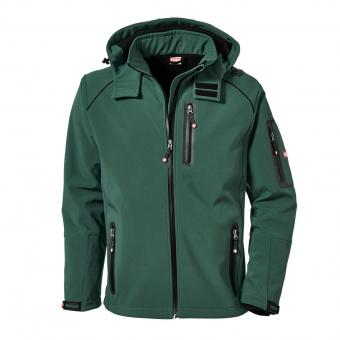 KRÄHE St. Moritz Softshell Jacket green black | L
