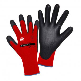 Skinny PU Installation Work Gloves EN 388 CAT 2 (4131) black red | 11