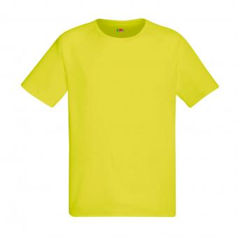 Fruit of the Loom Performance T-shirt geel | L