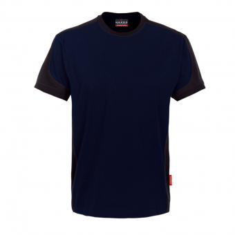 HAKRO Contrast Performance T-Shirt marine grey | XXL