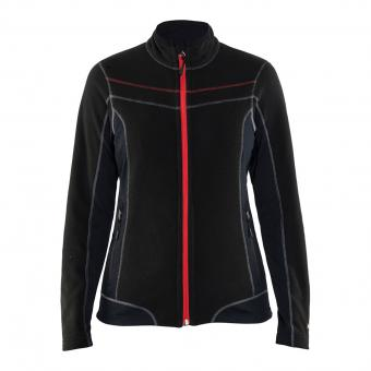 Blakläder Microfleece Jacket black red | XXL