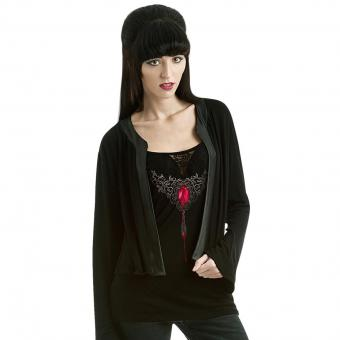 Spiral Strappy Top and Cardigan Blood Ruby black | XL