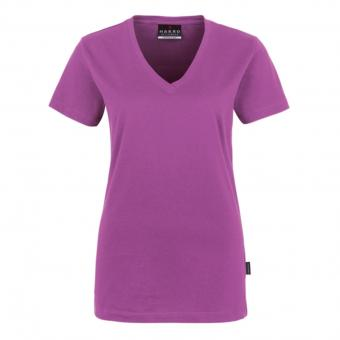 Hakro Classic V-Neck Shirt purple | XS