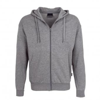 HAKRO Premium Hooded Jacket grey melange | S