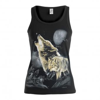 Tank Top Wolves black | S