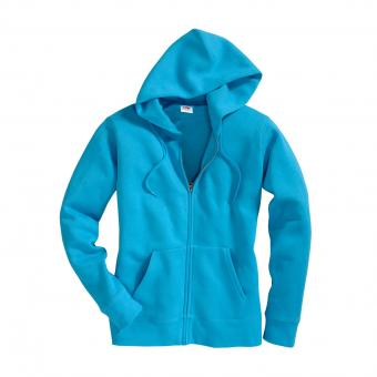 Fruit of the Loom Lady Fit Premium Hooded Sweatjacke blau | S