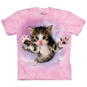 Ladies T-Shirt Pounce Chicken Cat rosa | S