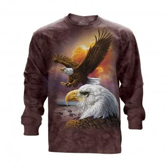 Longshirt Eagle & Clouds brown | M