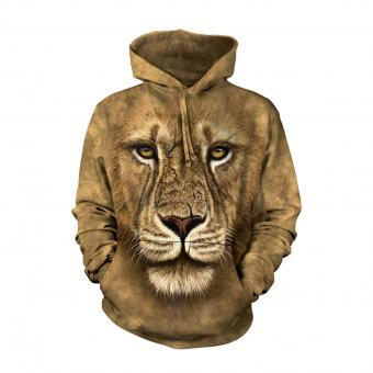 Hoodie Lion Warrior brown | XXL