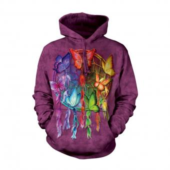 Hoodie Rainbow Butterfly Dreamcatcher purple | L