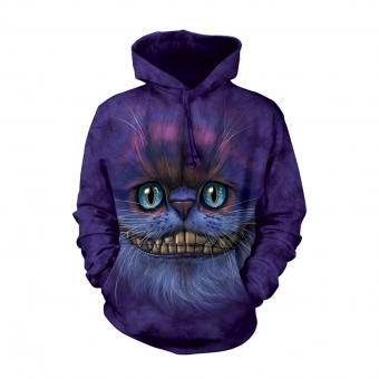Sweat à Capuche Big Face Cheshire Cat lila | S