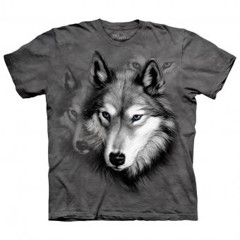 Kids T-Shirt Wolf Portrait grey | S